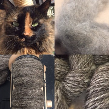 Yarn made from cat hair